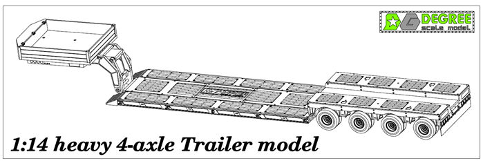 Degree Model Workshop Heavy Haul Trailer