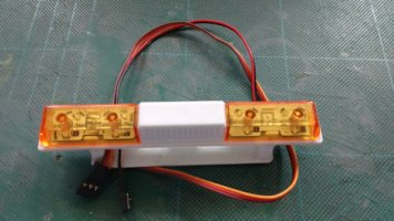 RC controlled rotating beacon bar
