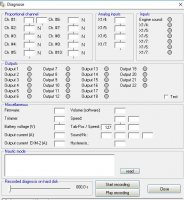 USM-RC-2 Diagnostic window.