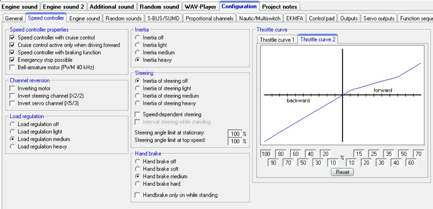 Beier Modules - Advanced functions 3, throttle curves