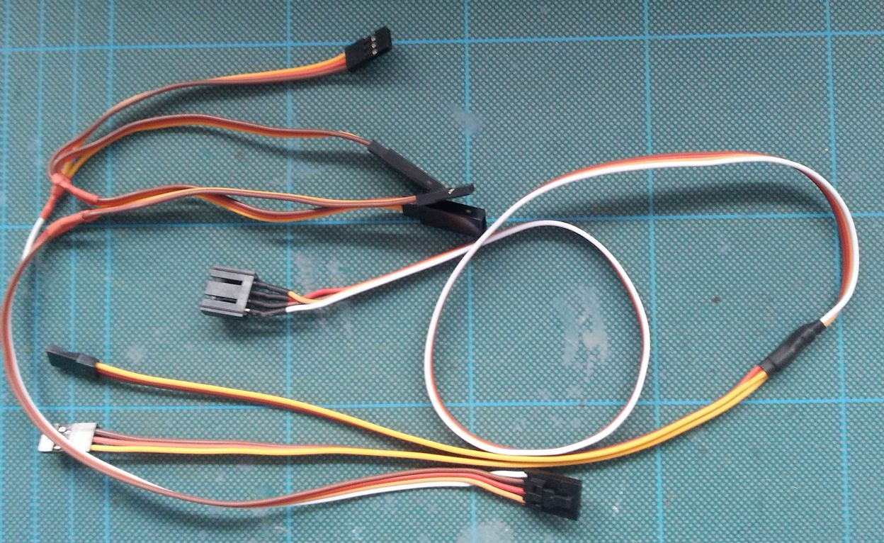 Trailer light cable for light system | AsTec Models. RC Model truck ...